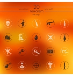 Set of terrorism icons vector
