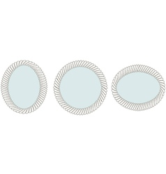 Set of vintage mirrors vector