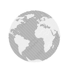 striped earth planet vector image
