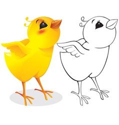 surprised chicken vector image