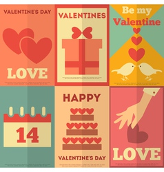 Valentines Posters vector image vector image