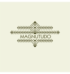 Vintage luxury ethnic art deco monochrome vector