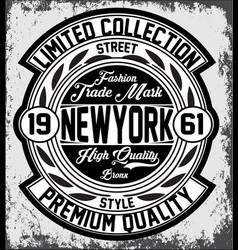 Vintage new york typography t-shirt graphics vector