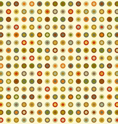 Vintage seamless background of round elements dots vector image vector image