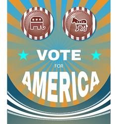 Vote for america elephant versus donkey american vector