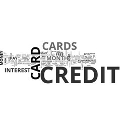 Why credit cards are good text word cloud concept vector