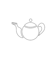 Tea pot icon outline style vector