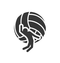 ball volleyball sport design vector image