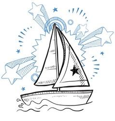 doodle pop sailboat vector image