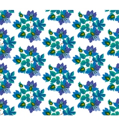 Seamless pattern of fairytale blue flowers vector