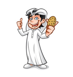 Cartoon arabian kid vector