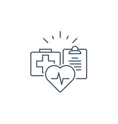 health care services thin line icon medical vector image