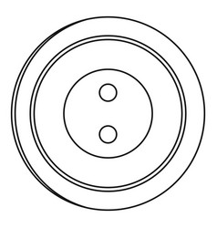 plastic button icon outline style vector image