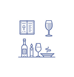 Wine icons set vector