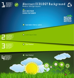 Modern nature background vector