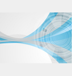 Tech abstract corporate wavy background vector