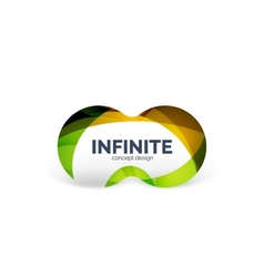 Infinity business logo concept vector
