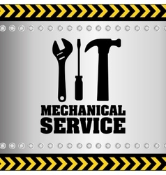 Mechanical service design vector