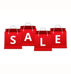 Sale on shopping bags vector