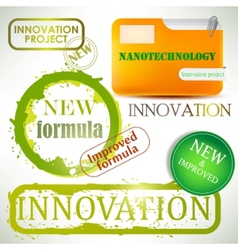 Tags and stamps innovation vector