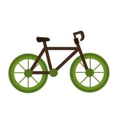 Bike vehicle transport isolated icon vector