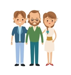 Grandfather and parents icon family design vector
