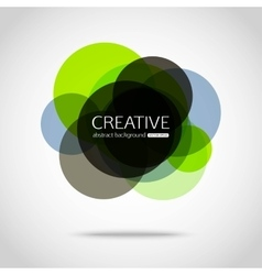 Abstract colorful background circle design vector