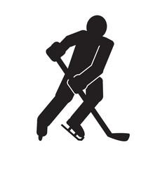Abstract hockey symbol vector