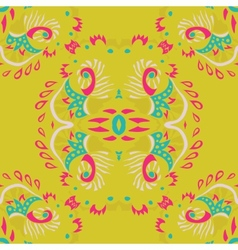Abstract seamless pattern on yellow background vector image vector image