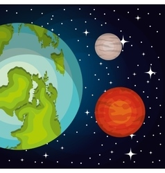 Astronomy system solar planets isolated vector