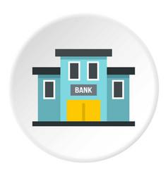 bank building icon circle vector image vector image