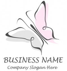 butterfly company name slogan vector image vector image