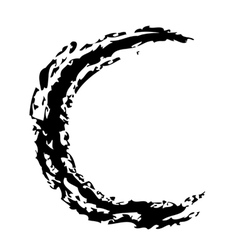 C Brushed vector image