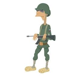 Cartoon of russian soldiers vector
