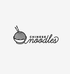 chinese noodles logo vector image