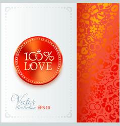 Classic wedding vintage badge vector image vector image