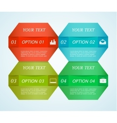 Colorful text boxes vector image