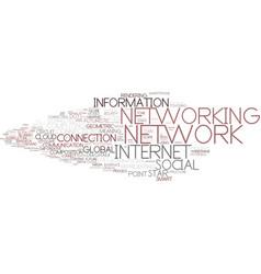 Digital networking word cloud concept vector