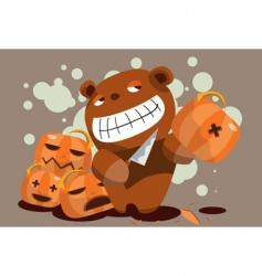 evil teddy vector image vector image