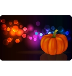 Festive background with pumpkin vector