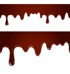 Flowing melted chocolate vector image