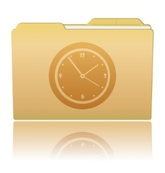 Folder with Clock vector image