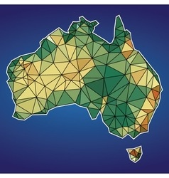 Low poly map of australia design vector