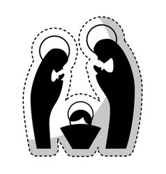 manger family figure silhouette icon vector image vector image