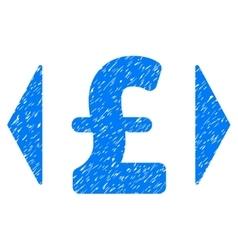 Regulate pound price grainy texture icon vector