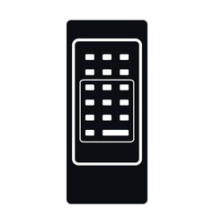 Retro remote control icon vector