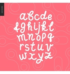 Script alphabet 8 vector