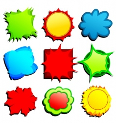 set or colored tags vector image vector image