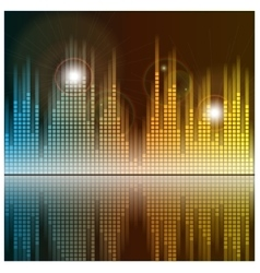 Sound waves and music background audio equalizer vector