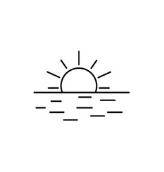 sunset icon vector image
